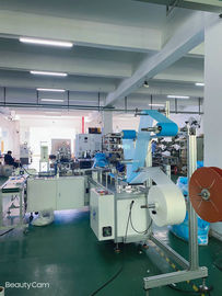 Three Layer Non Woven Face Mask Making Machine Forming / Blanking / Cutting Function